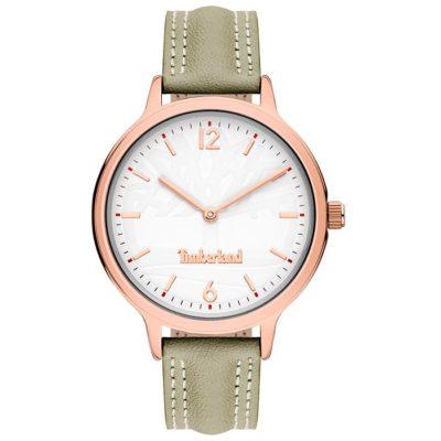 Ρολόι γυναικείο Timberland Sconset TBL15642BYR01 με δερμάτινο λουρί και λευκό  καντράν 53c4ec9c393